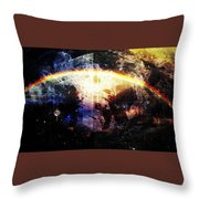 Galactic Curve  Throw Pillow