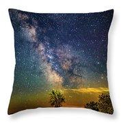Galactic Dirt Road Throw Pillow
