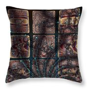Galactic Grafitti Throw Pillow
