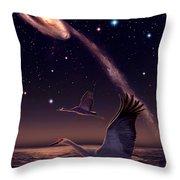Galactic Migration Throw Pillow