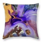 Galactic Portal. Abstract Fluid Acrylic Pour Throw Pillow