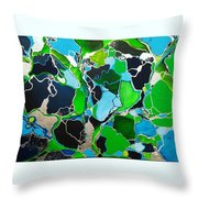 Galactic Puzzle Throw Pillow