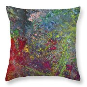 Galactic Spring_by Aatmica Throw Pillow