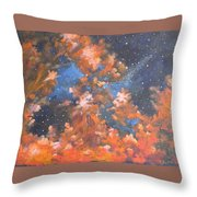Galactic Storm Throw Pillow by Elizabeth Lane