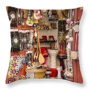 Galata Gift Shop Throw Pillow
