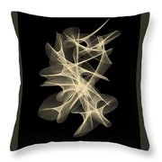 Galaxies Entwined Throw Pillow