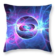 Galaxy Atoms Throw Pillow