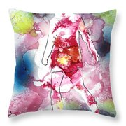 Galaxy Girl Throw Pillow