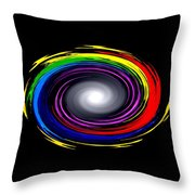 Galaxy In Chakra Colors Throw Pillow