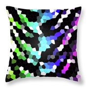 Galaxy In Time Abstract Design Throw Pillow