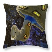 Button In Space Throw Pillow