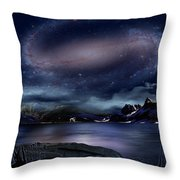 Galaxy Rise Throw Pillow