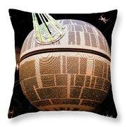 Galaxy Stream Throw Pillow