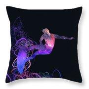 Galaxy Surfer 3 Throw Pillow