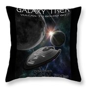 Galaxy Trek  Vulcan To Boldly Go Poster  Starship Throw Pillow