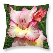 Glad To Be Pink And Yellow Throw Pillow