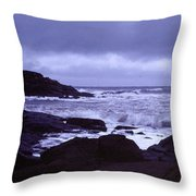 Gale Winds At Nubble Light Throw Pillow