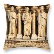 Galerie Des Rois Catherdrale Notre Dame De Paris France Throw Pillow