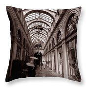Galerie Vivienne 2 Throw Pillow