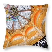 Galeries Lafayette Inside Art Throw Pillow