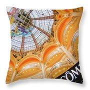 Galeries Lafayette Inside Art Throw Pillow