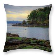 Galiano Island Inlet Throw Pillow