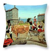 Galicia Medieval Throw Pillow
