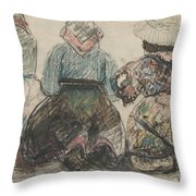 Galician Women Throw Pillow