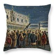 Galileo Galilei, 1564-1642 Throw Pillow