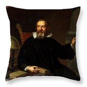 Galileo Galilei, Italian Astronomer Throw Pillow