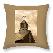 Galisteo Church, New Mexico Throw Pillow
