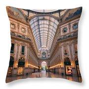 Galleria Milan Italy II Throw Pillow