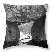 Gallery Entrance At Creevykeel Court Cairn Ireland Throw Pillow