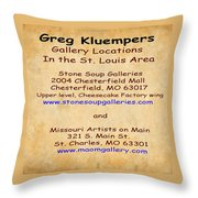 Gallery Locations In The St. Louis Area Throw Pillow