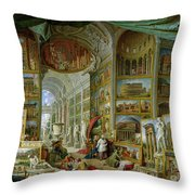 Gallery Of Views Of Ancient Rome Throw Pillow