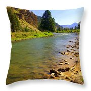 Gallitan River 1 Throw Pillow