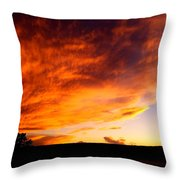 Gallo Peak Fiery Skies  Throw Pillow