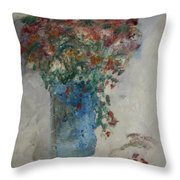 Gallon Can Florals Throw Pillow