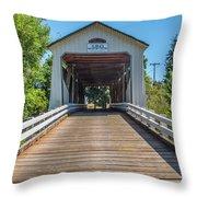 Gallon House Covered Bridge Throw Pillow