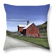 Gallop Road Barn Throw Pillow