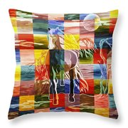 Galloping In The Night Throw Pillow