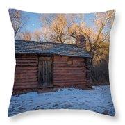 Galloway Homestead Cabin Throw Pillow