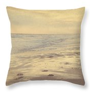 Galveston Island Sunset Seascape Photo Throw Pillow by Svetlana Novikova
