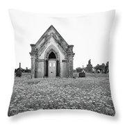 Galveston Old City Cemetery Throw Pillow