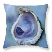 Galveston Oyster Shell Throw Pillow