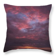 Galveston Texas Sunset Throw Pillow