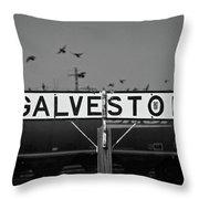 Galveston Train Yard Throw Pillow