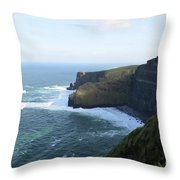 Galway Bay And Towering Cliffs Of Moher In Ireland Throw Pillow