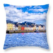 Galway On The Water Throw Pillow
