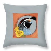 Gambel And Lily Throw Pillow